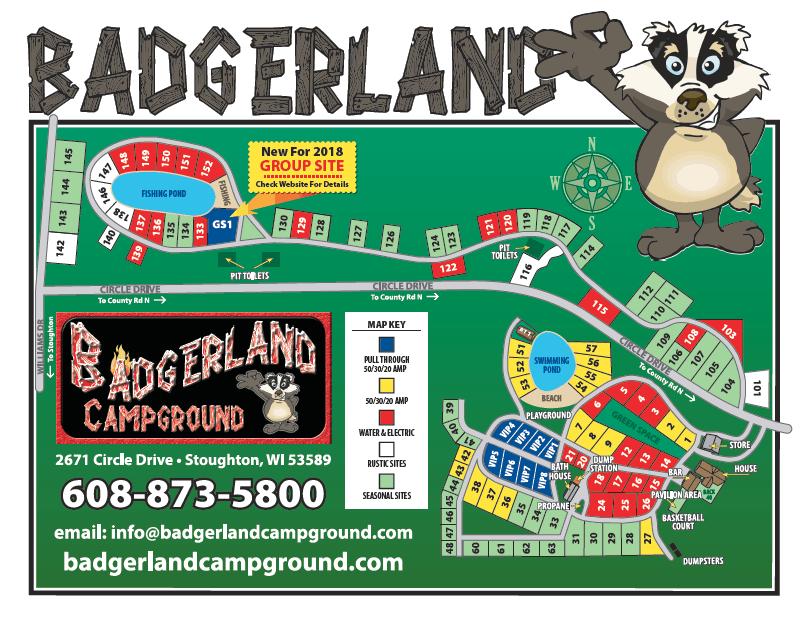 BadgerLand Campground, Stoughton, WI