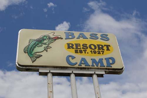 Bass camp sign