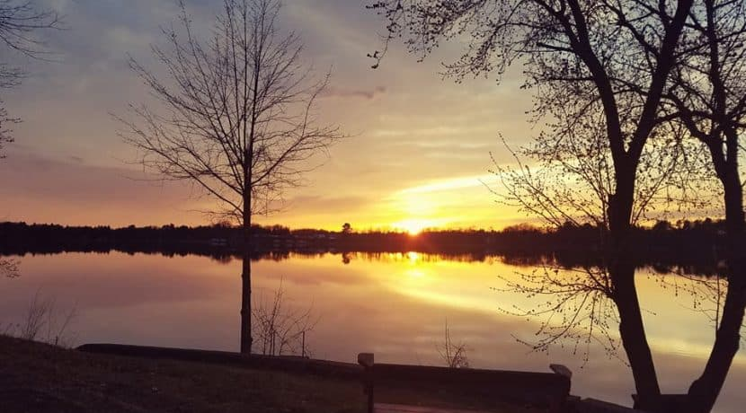 Cornell Lake sunset