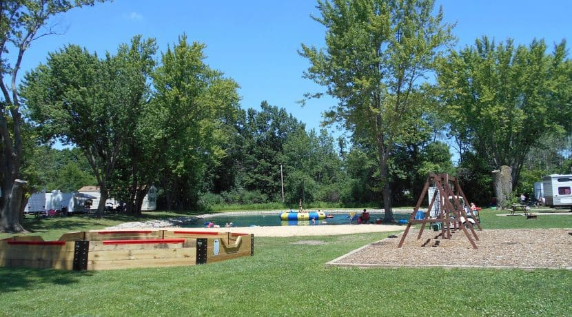 Play area and Pond